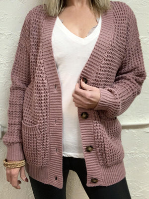 Cozy Button Cardigan