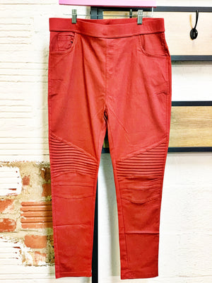 Rust Moto Jeggings