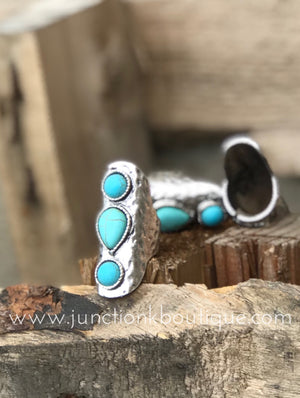 Triple Turquoise Stone Ring