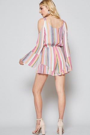 Cotton Candy Striped Romper