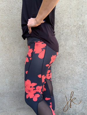 High Waist Floral Print Full Leggings