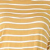 Carefree Rolled Sleeve Striped V-Neck Top