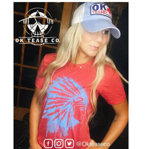 Ok Tease Co Turquoise Chief Tshirt