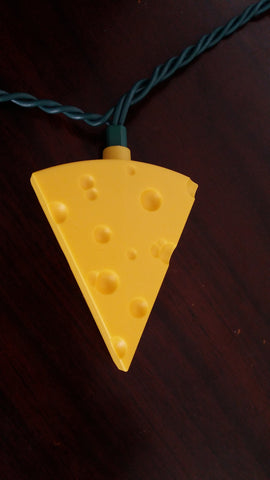 Single Cheddar Cheese Wedge Light