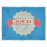 Mucker Horse Poop Patrol - Fleece Blanket - Various Sizes