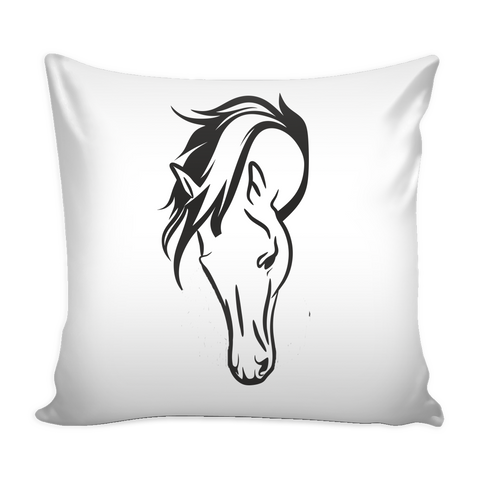 Horse Head - Pillow Case - Various Colors