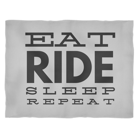 Eat Ride Sleep Repeat - Fleece Blanket - Various Sizes