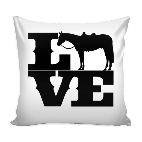 Love Horse - Pillow Case - Various Colors