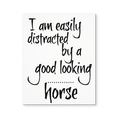 Easily distracted - Canvas Poster