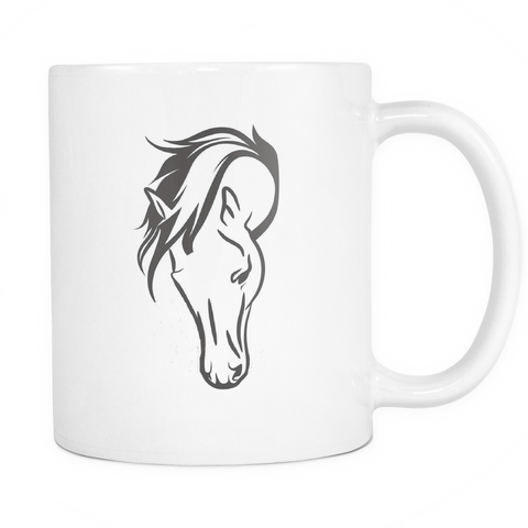 Horse Head - Coffee Mug - 11 oz - Various Colors