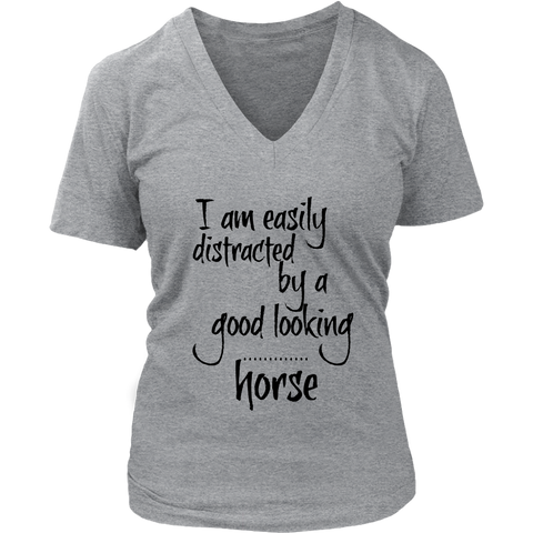Easily distracted - short sleeve v neck - Various Colors