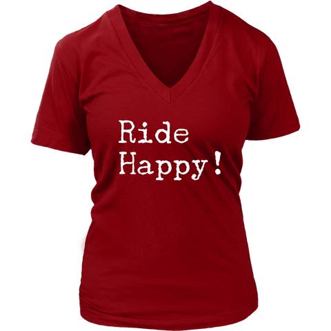 Ride Happy - V Neck short sleeve - Various Colors
