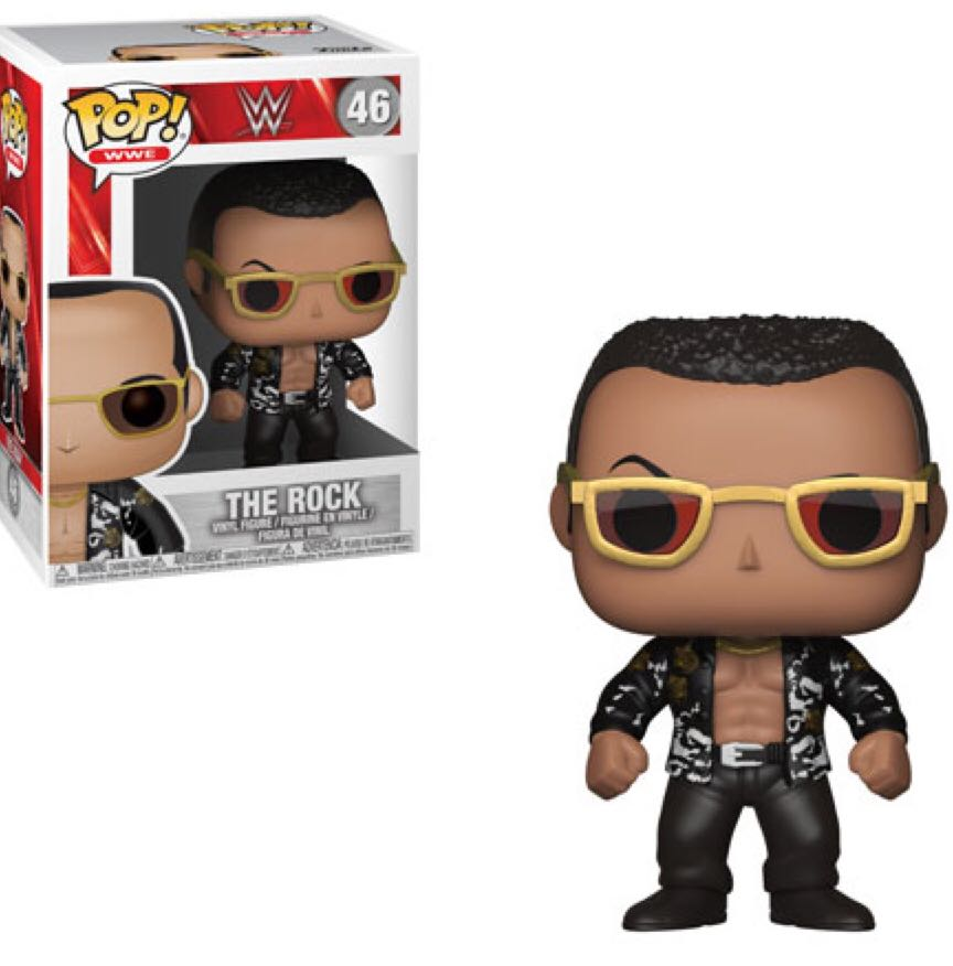 Pop! Sports #46: WWE Wrestling: The ROCK (Black Shirt)