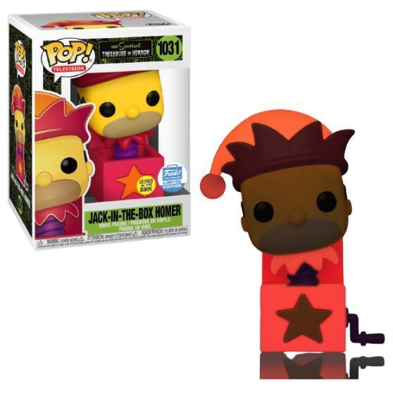 Pop! TV #1031: The Simpsons: JACK-IN-THE-BOX GITD Funko-Shop