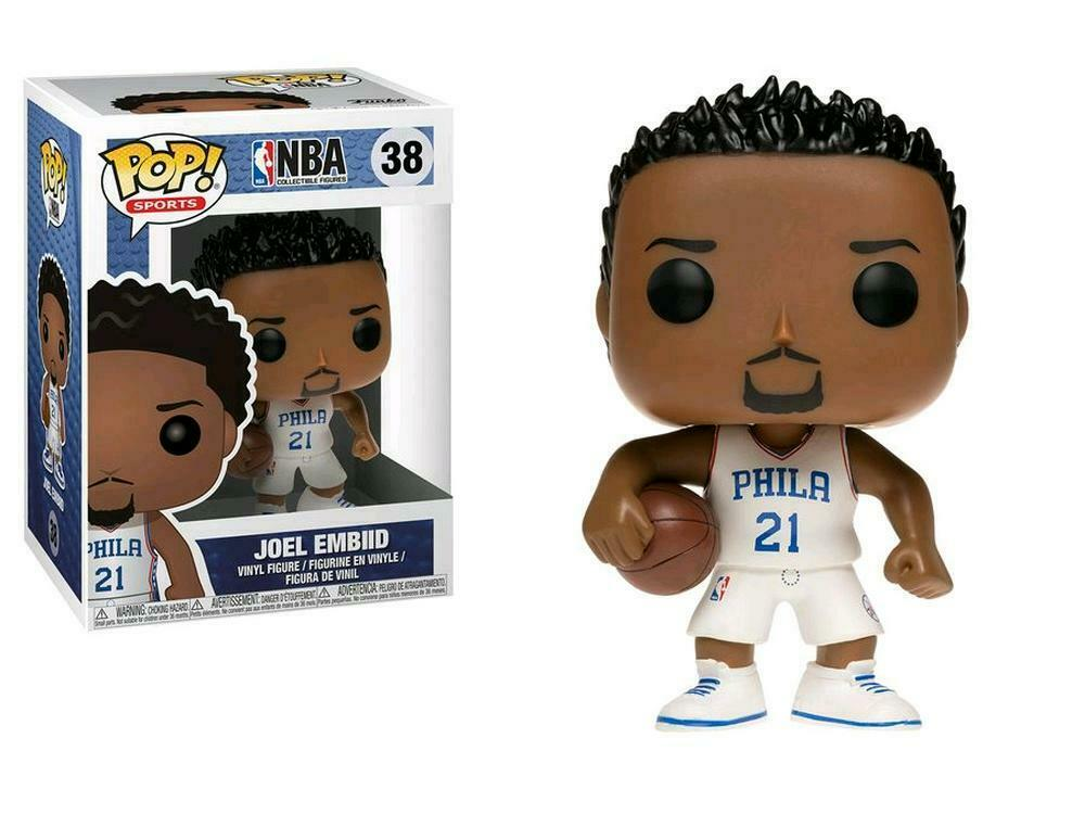 Pop! Sports #38: NBA Basketball: Philidelphia 76ers: JOEL EMBIID (White J.)