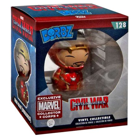 Dorbz Marvel #128: Civil War: IRON MAN (Unmasked) Marvel Collector Corps