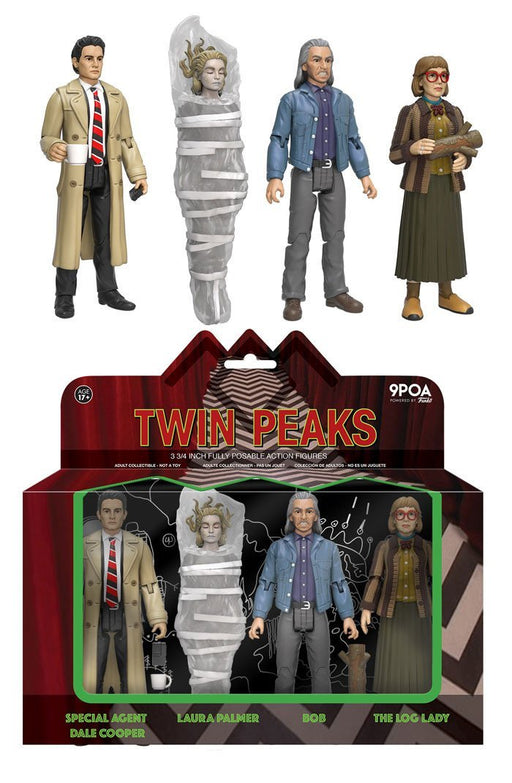 Funko Action Figures Action Figures: Twin Peaks 4-pack: SPECIAL AGENT DALE COOPER, LAURA PALMER, BOB, THE LOG LADY