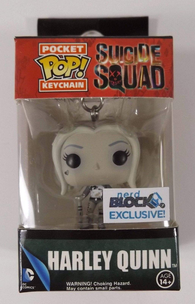 Funko Pocket POP! Pocket POP! Keychain: Suicide Squad: HARLEY QUINN [Black & White] - Nerd Block Exclusive