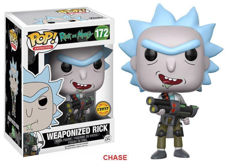 Funko POP! POP! Animation #172: Rick and Morty: WEAPONIZED RICK [GRINNING] - Chase Limited Edition