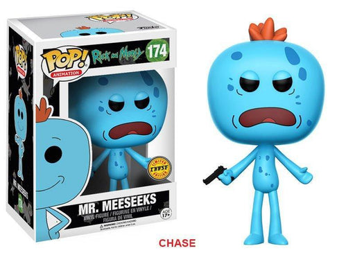 Funko POP! POP! Animation #174: Rick and Morty: MR. MEESEEKS [WITH GUN] - Chase Limited Edition