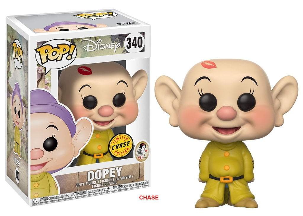 Funko POP! POP! Disney #340: Snow White: DOPEY (Kissed) - Chase Limited Edition
