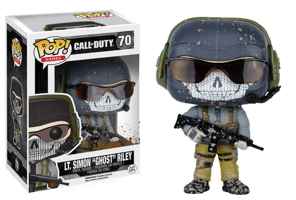 "Funko POP! POP! Games # 70: Call of Duty: LT. SIMON ""GHOST"" RILEY"
