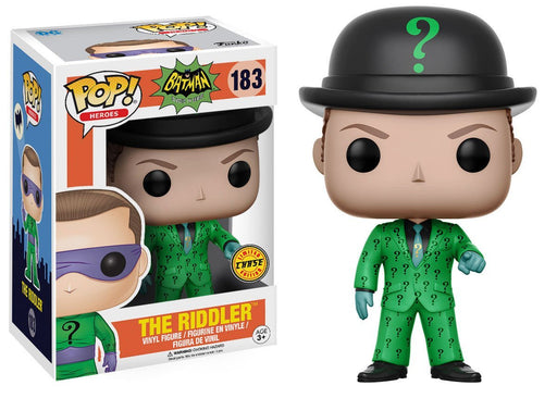 Funko POP! POP! Heroes #183: Batman Classic TV Series (1966): THE RIDDLER (BOWLER HAT) - Chase Limited Edition