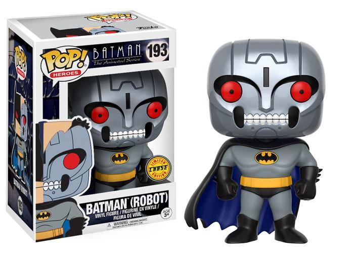 Funko POP! POP! Heroes #193: Batman The Animated Series: BATMAN (ROBOT) [Unmasked] - Chase Limited Edition