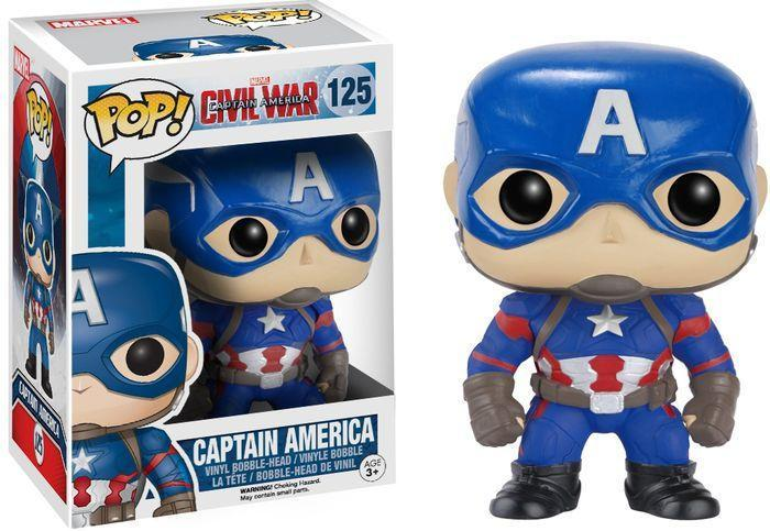 Funko POP! POP! Marvel #125: Captain America: Civil War: CAPTAIN AMERICA