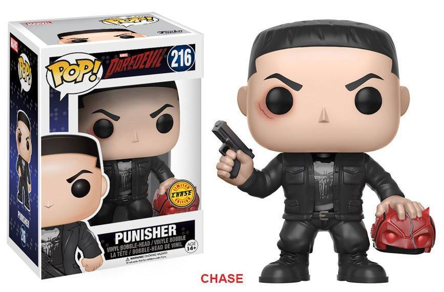 Funko POP! POP! Marvel #216: Daredevil: PUNISHER [with Daredevil's Mask] - Chase Limited Edition