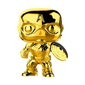 Funko POP! POP! Marvel : Marvel Studios - The First Ten Years: CAPTAIN AMERICA (Gold Chrome)