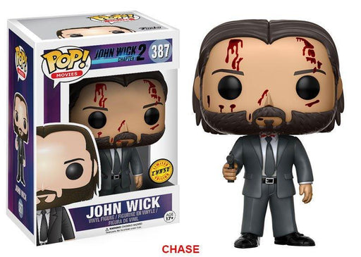 Funko POP! POP! Movies #387: John Wick: Chapter 2: JOHN WICK [Bloody] - Chase Limited Edition