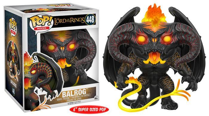 "Funko POP! POP! Movies #447: Lord Of The Rings: BALROG - 6"" Super Sized POP!"