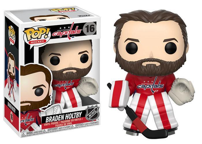 Funko POP! POP! NHL # 16: Washington Capitals: BRADEN HOLTBY (Home)