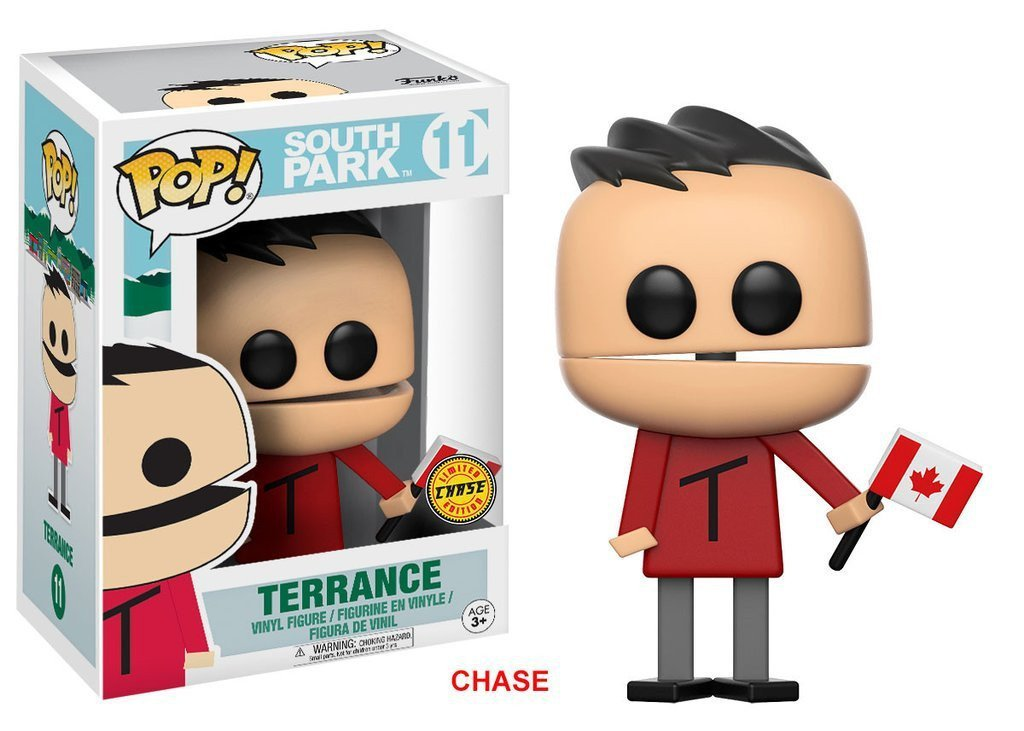 Funko POP! POP! South Park # 11: TERRANCE [CANADIAN FLAG] - Chase Limited Edition