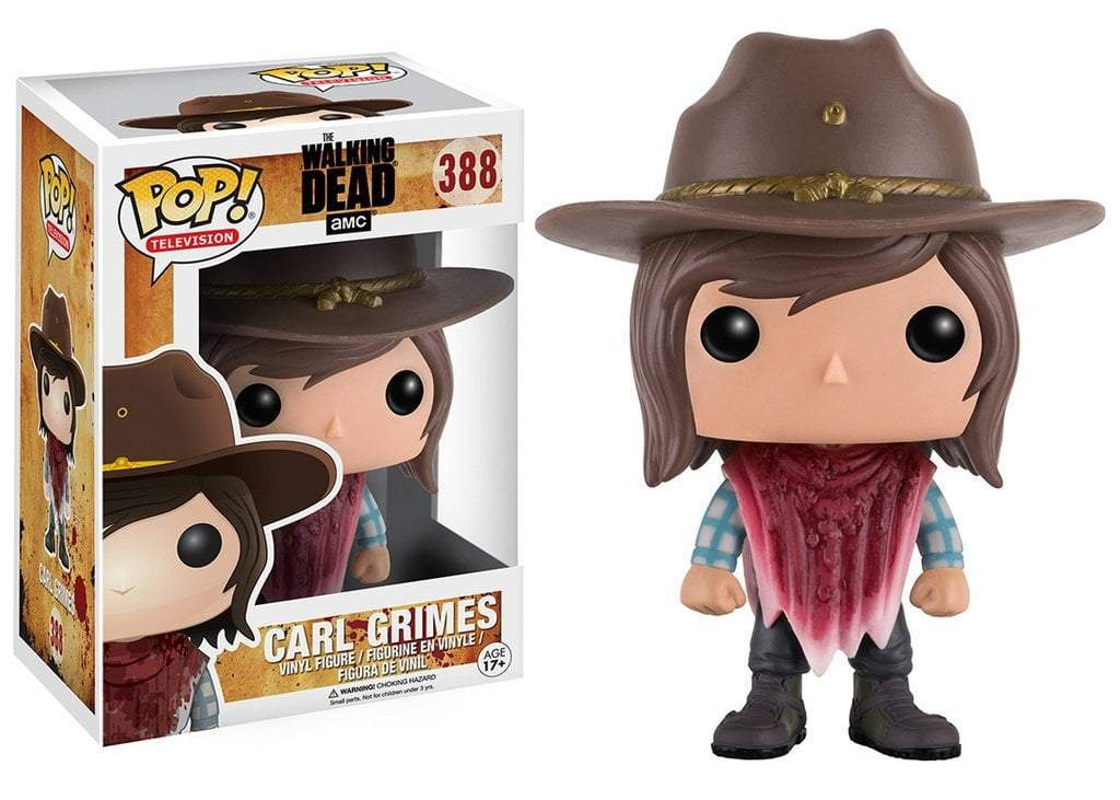 Funko POP! POP! TV #338: The Walking Dead: CARL GRIMES [BD PONCHO]