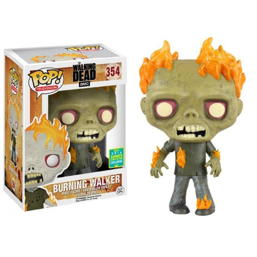 Funko POP! POP! TV #354: The Walking Dead: BURNING WALKER - 2016 Summer Convention Exclusive