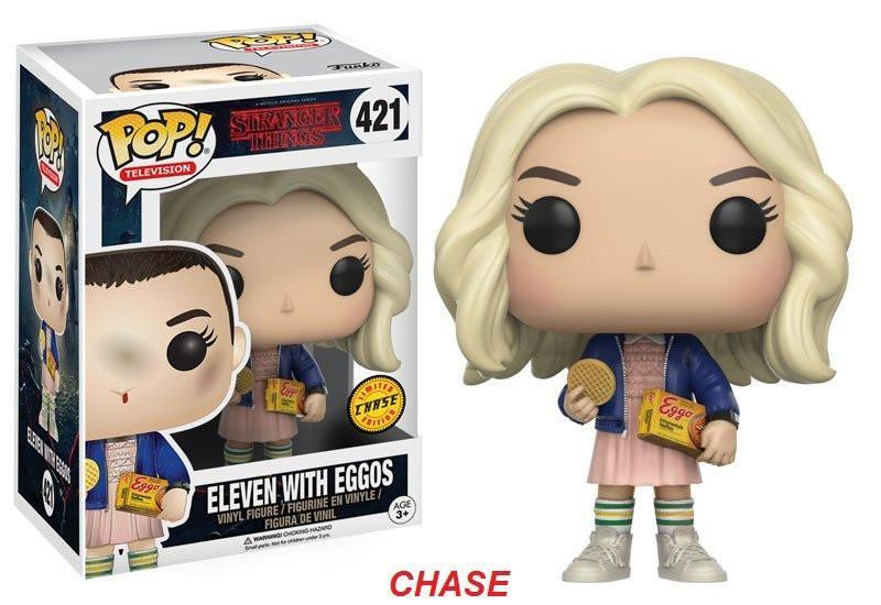 Funko POP! POP! TV #421: Stranger Things: ELEVEN WITH EGGOS [with WIG] - Chase Limited Edition