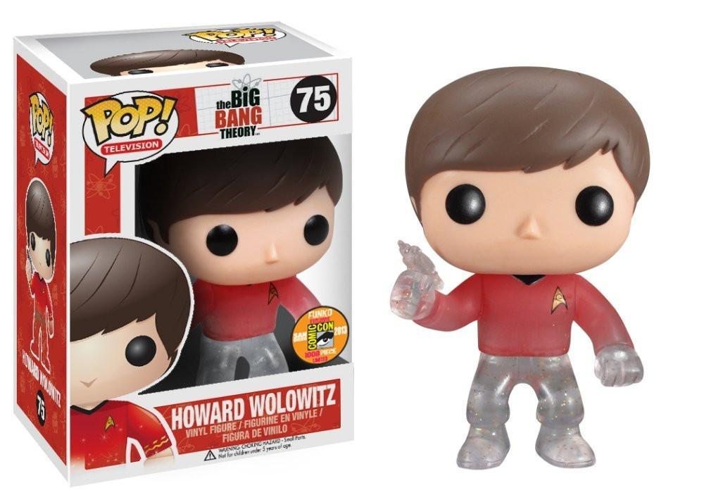 Funko POP! POP! TV # 75: the Big Bang Theory: HOWARD WOLOWITZ (Star Trek) - SDCC 2013 Limited Edition 1008 pcs