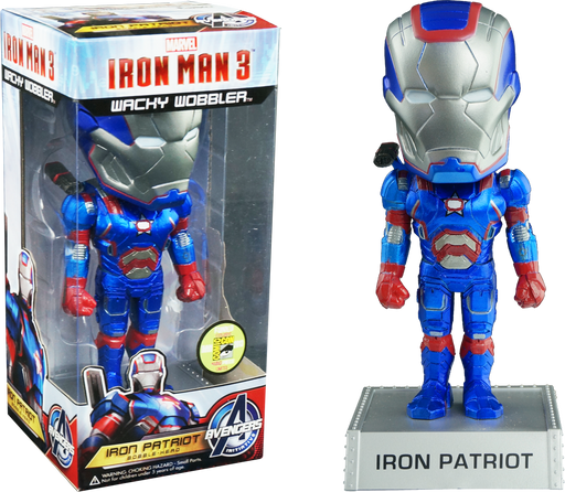 Funko Wobblers Wacky Wobblers: Marvel: Iron Man 3: IRON PATRIOT - SDCC 2013 Exclusive Limited Edition 480 pcs