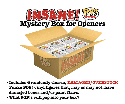 Insane POP! Funko POP! MYSTERY BOX for OPENERS Lot of 6 Funko POP! Vinyl Figures