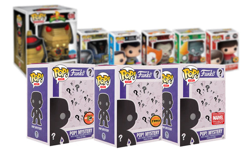 Insane POP! Funko POP! Mystery Box with CONVENTION / EXCLUSIVE / CHASE Lot of 3 POP! Vinyl Figures