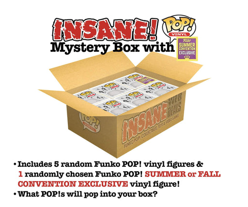 Insane POP! Funko POP! MYSTERY BOX with CONVENTION EXCLUSIVE Lot of 6 Funko POP! Vinyl Figures