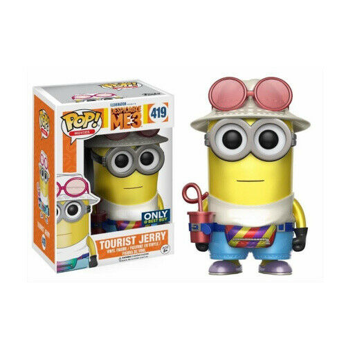 Pop! Movies #419: Despicable Me 3: TOURIST JERRY (Metallic) Best Buy
