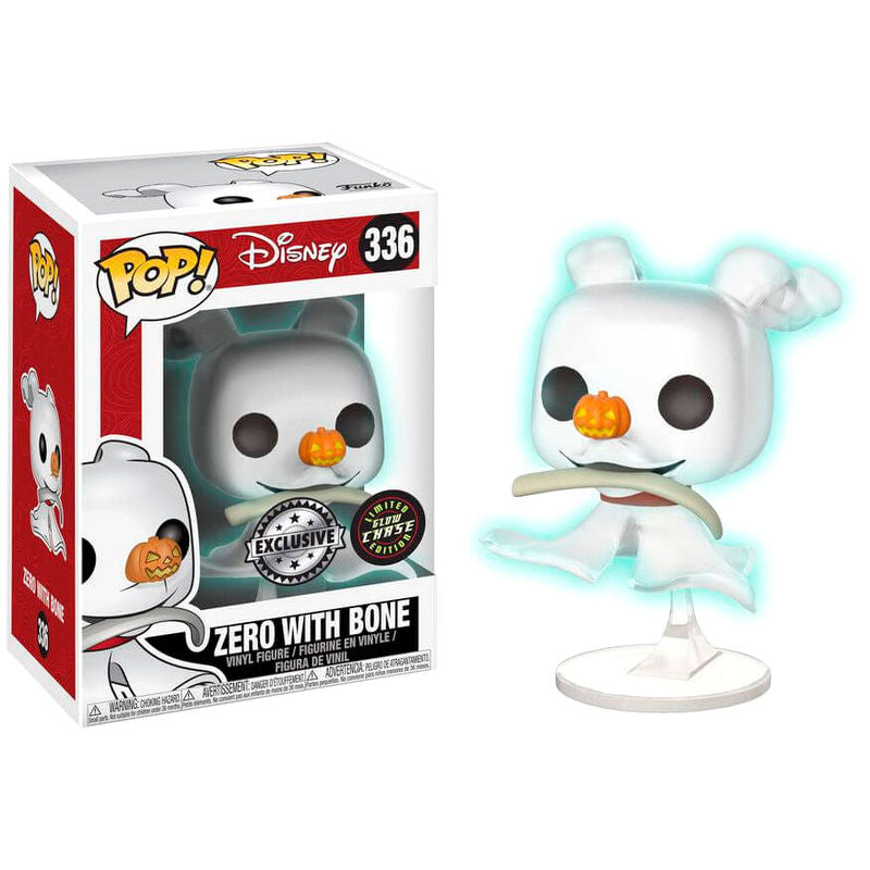 Pop! Disney #336: Nightmare Before Christmas: ZERO with BONE GITD Box Lunch Chase Variant