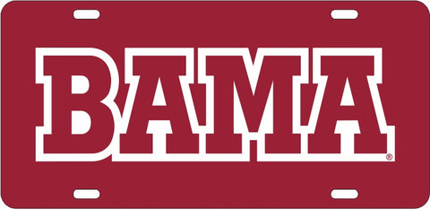 ALABAMA CRIMSON TIDE CAR TRUCK TAG LICENSE PLATE FRAME UNIVERSITY CRIMSON WHITE