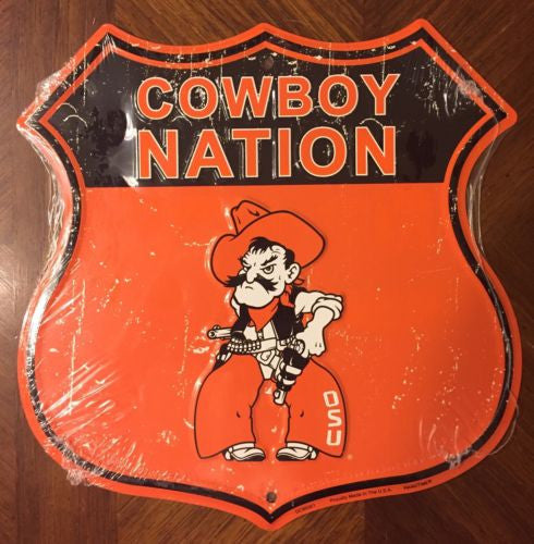 OKLAHOMA STATE COWBOYS SHIELD COWBOYS NATION