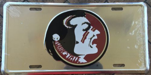 FLORIDA STATE SEMINOLES CHROME LICENSE PLATE