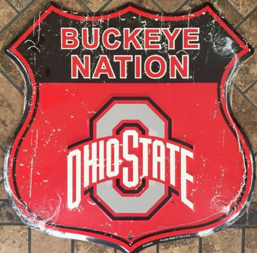 OHIO STATE UNIVERSITY SHIELD BUCKEYE NATION