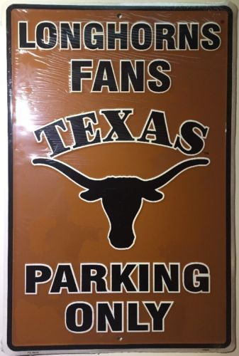 "TEXAS LONGHORNS 12"" x 18"" LONGHORN PARKING ONLY METAL SIGN"
